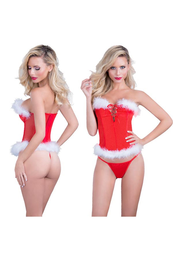 Christmas Fur Sexy Lingerie For Women