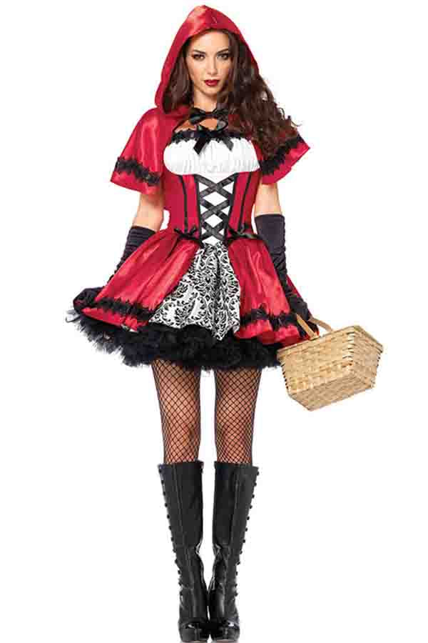 Sexy Little Red Riding Hood Halloween Costume Red