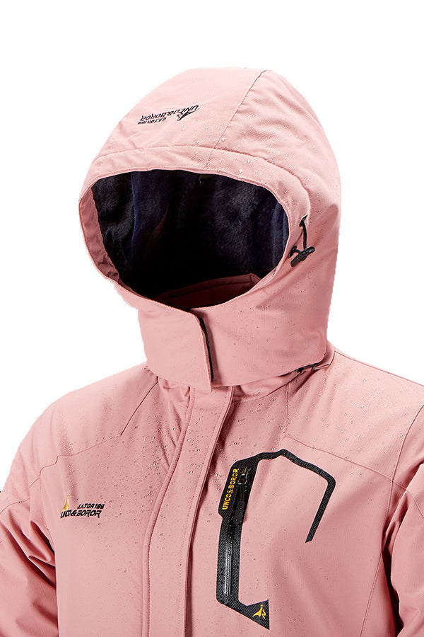 Womens Ski Jacket Winter Waterproof Windproof Pink