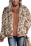 Womens Zip Up Leopard Print Jacket