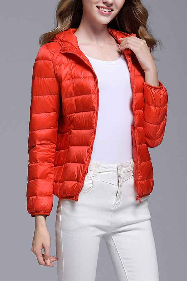 Women Waterproof Packable Down Jacket Tangerine