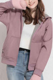 Casual Long Sleeve Warm Outdoor Jacket Purple