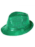 Sequined Green Hat