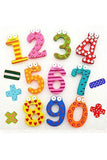 Magnetic Educational Cartoon 1-10 Number Wooden Refrigerator Magnet