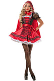 Sexy Adult Little Red Riding Hood Costume Womens