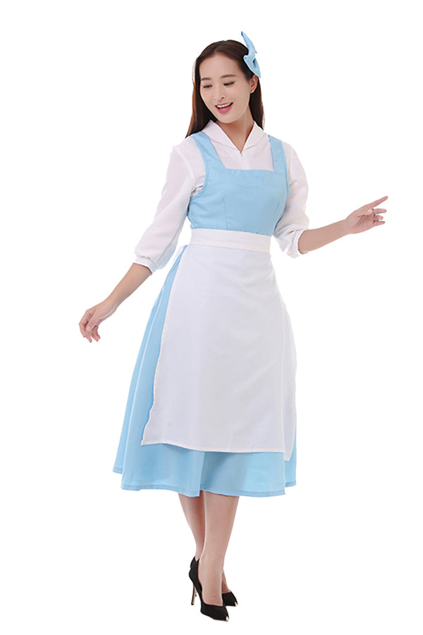 Beauty And The Beast Belle Halloween Costume For Women Blue
