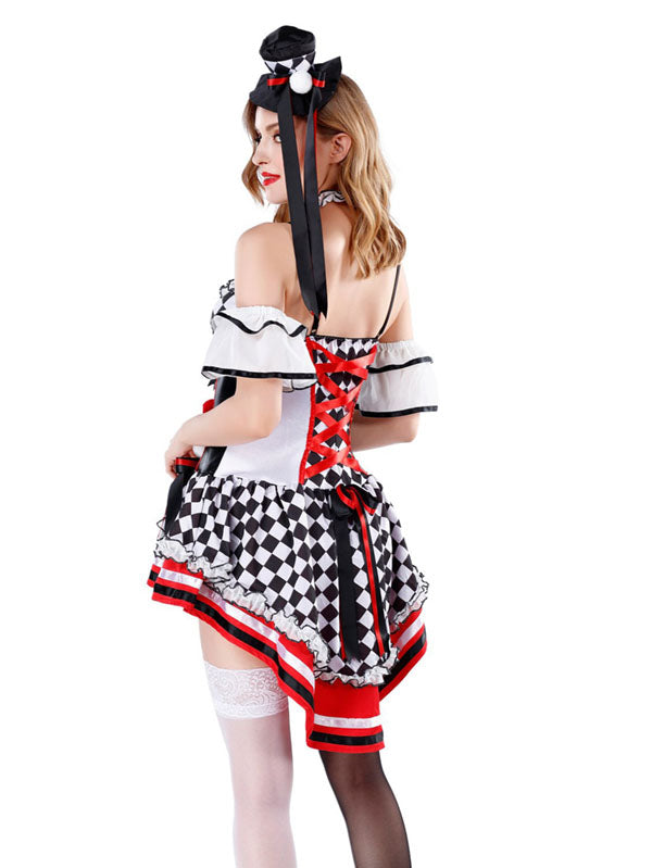 Womens Halloween Harley Quinn Costumes Black And White