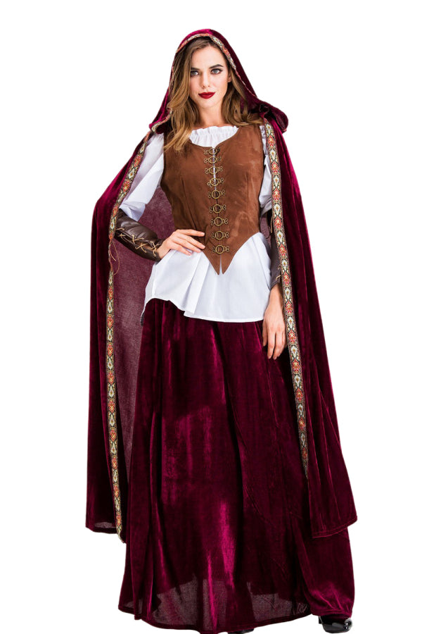Deluxe Adult Halloween Little Red Riding Hood Costume