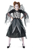 Adult Zombie Skeleton Angel Costume Black