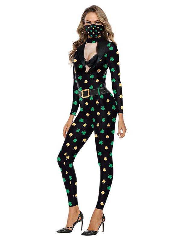 St Patricks Day Skinny Jumpsuit Outfit For Women