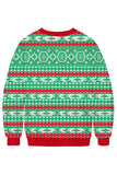 Alpaca Ugly Christmas Sweatshirt Light Green