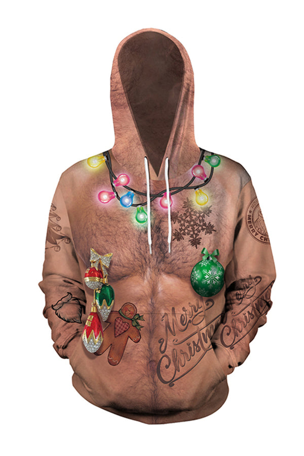 Unisex Color Light Ugly Christmas Hoodie
