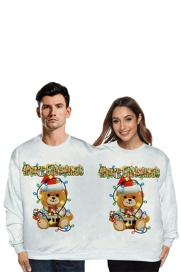 Cute Bear Two Person Christmas Sweatshirt