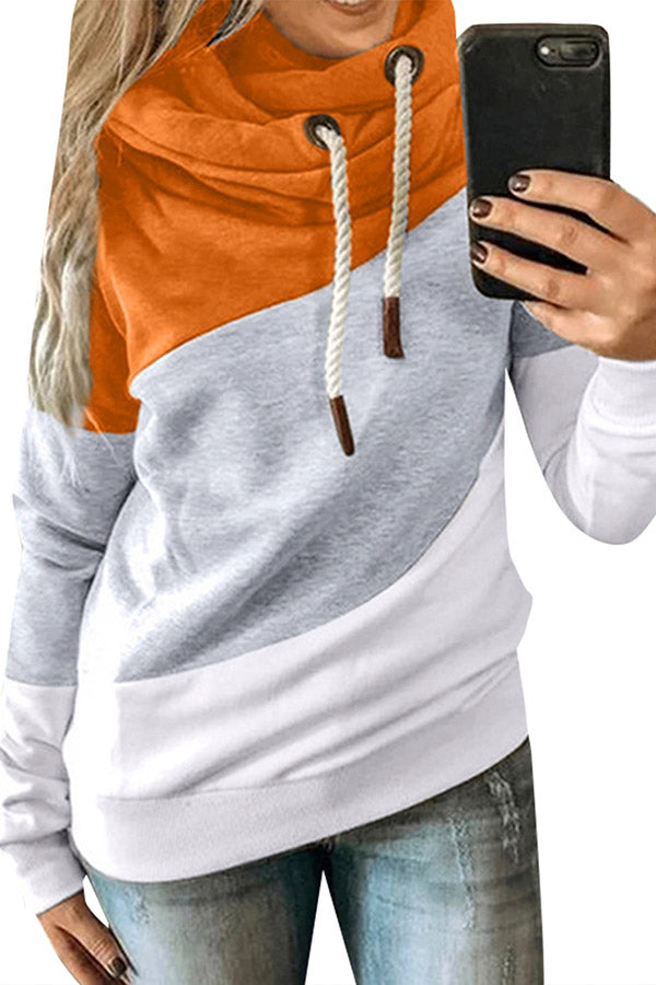 Plus Size Long Sleeve Hooded Sweatshirts For Women