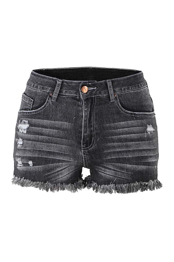 Denim Shorts For Women Mid Rise Distressed Jeans Shorts