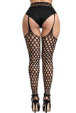 Dot Cut Out Suspender Pantyhose
