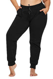 Women's Solid Plus Size Active Jogger Sweatpants Grey Melange
