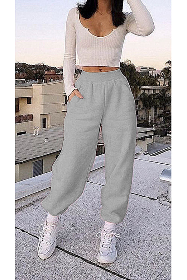 Running Grey Sweatpants With Pocket