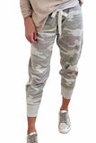 Women's Jogger Long Pants Drawstring Camouflage Pants