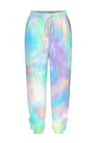 Tie Dye Oversized Sweatshirt Jogger Loungewear Light Purple