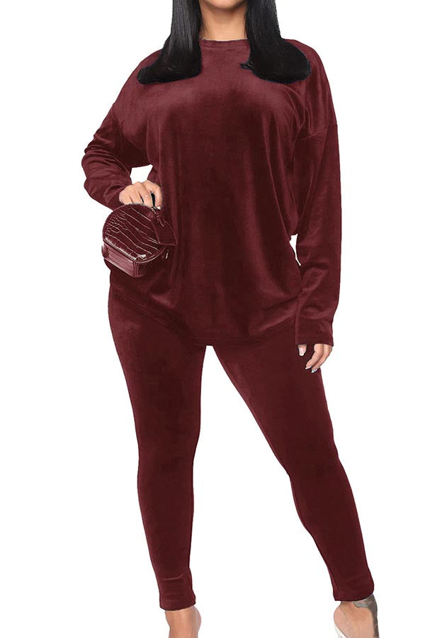 Women's Sweatsuit Set Velour Casual Suits Outfits