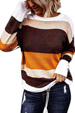 Drop Shoulder Crew Neck Plus Size Sweater Ginger