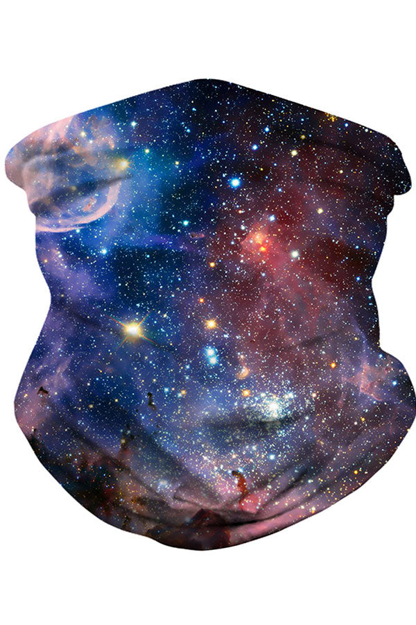 Unisex Galaxy Print Windproof Outdoor Neck Gaiter Scarf