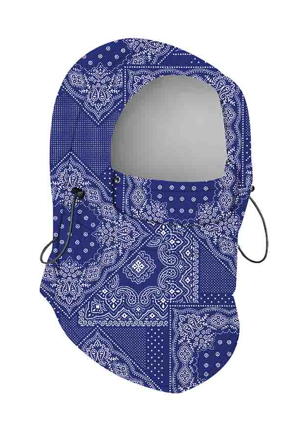 Dust Protection Tribal Pattern Neck Gaiter Balaclava Blue
