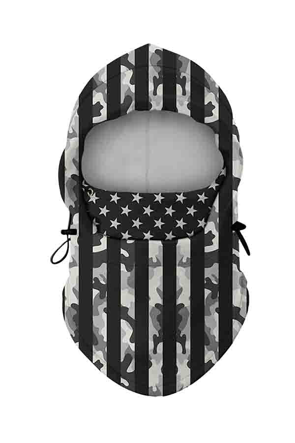Straps And Stars Dust Protection Balaclava Face Shield Beige White