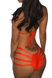 Orange Pretty Womens Sexy Halter Crop String Bikini