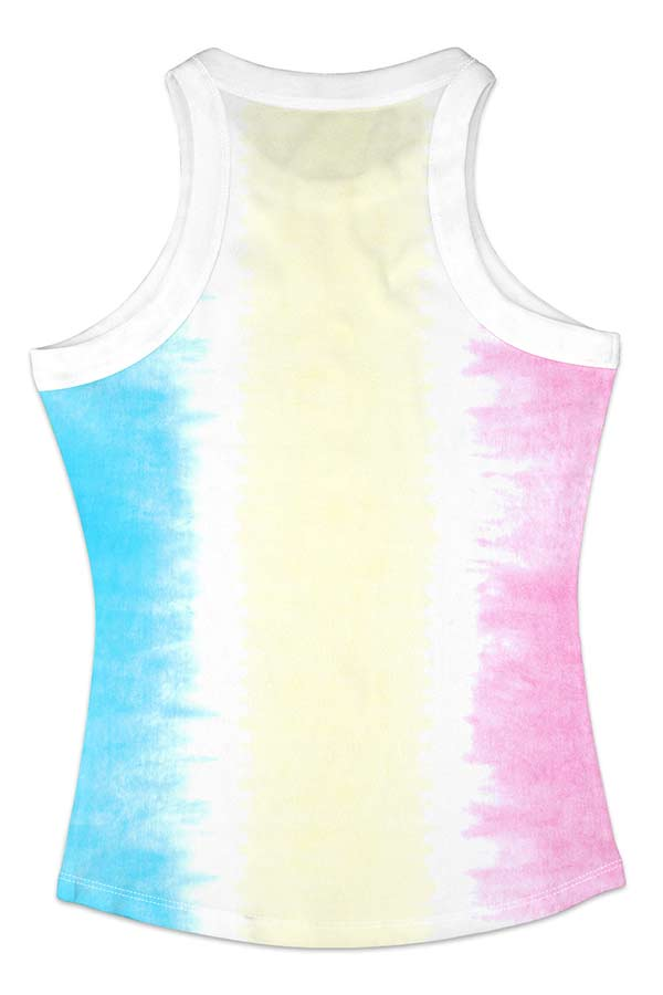 Summer Casual Ombre Print Tank Top For Women Beige