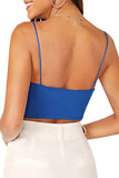 Women's Summer Plain Spaghetti Straps Camisole Crop Top