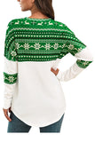 Reindeer Patchwork Funny Christmas Shirt Green