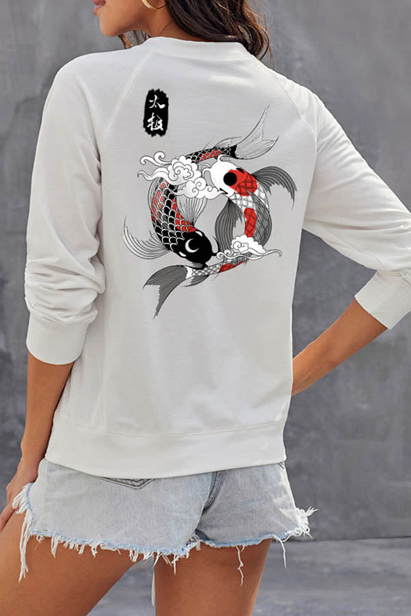Koi Fish Crew Neck Sweatshirt
