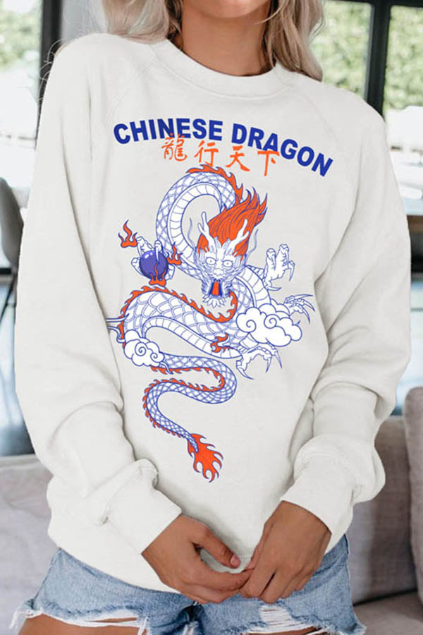 Chinese Dragon Graphic Sweatshirt