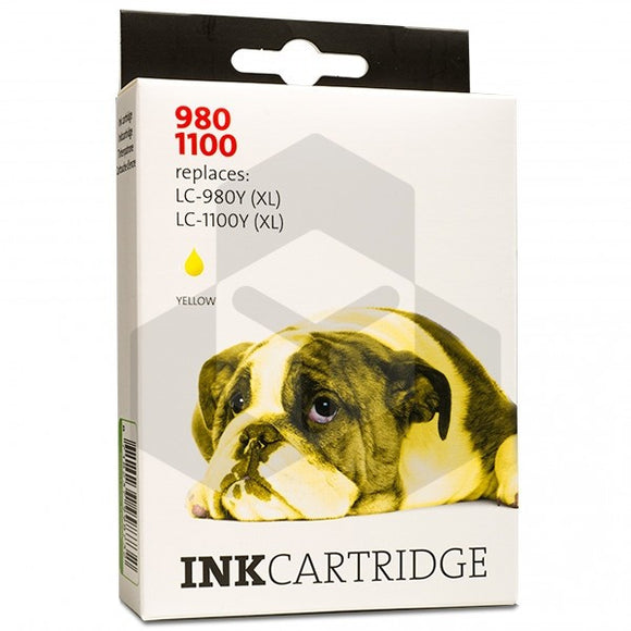 Brother LC-980Y (XL) - LC-1100Y (XL) inktcartridge geel (Eigen Lijn)