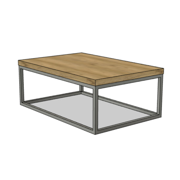Classic Steel Frame Coffee Table
