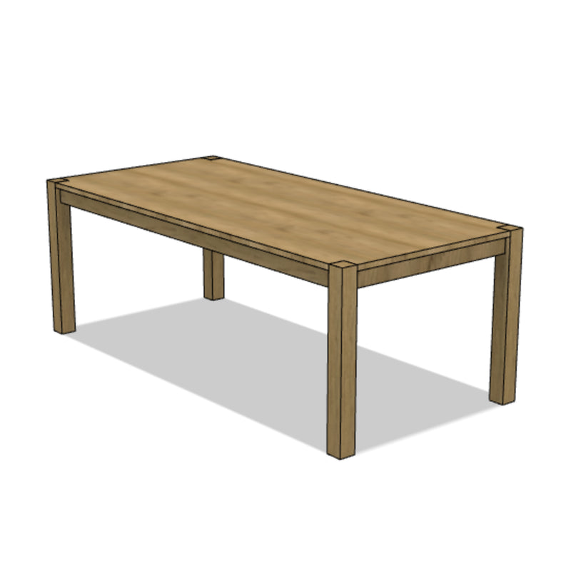 Classic Parson Style Dining Table