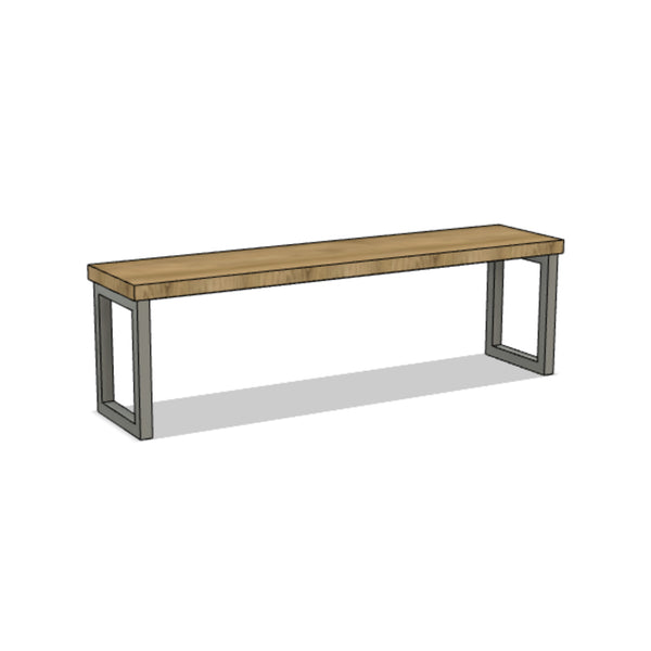 Classic Steel and Wood Bench