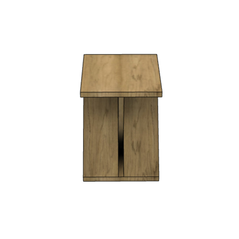 Knotted Wooden Side Table