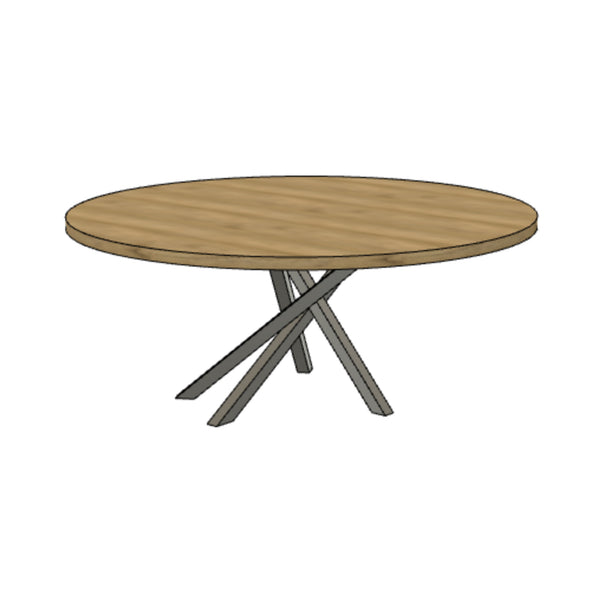 Matchstick Dining Table (Round)
