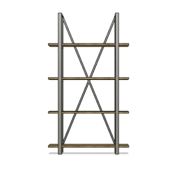 Modern X-Style Shelving (Single)