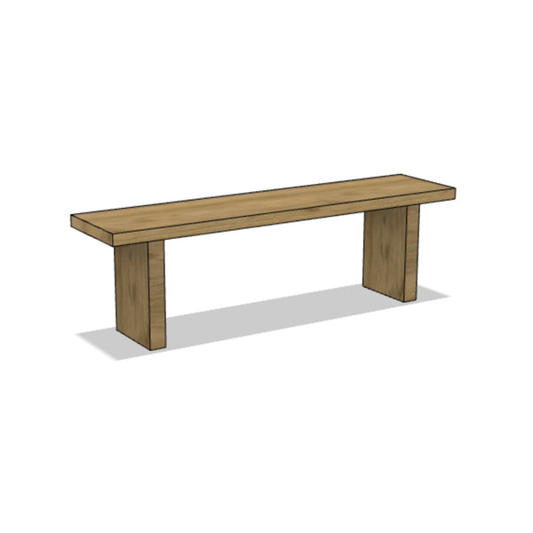 Paneled Wooden Bench
