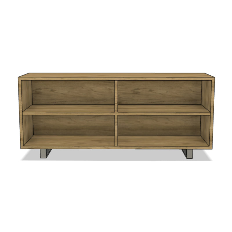 Open Shelving Wooden Console
