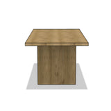 Paneled Dining Table