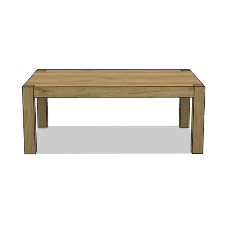 Slab Parson Style Coffee Table
