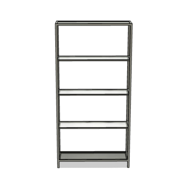 Steel and Glass Shelving