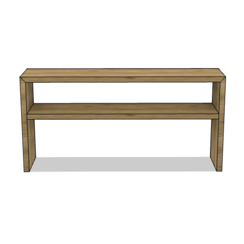 Wooden Console with Shelf
