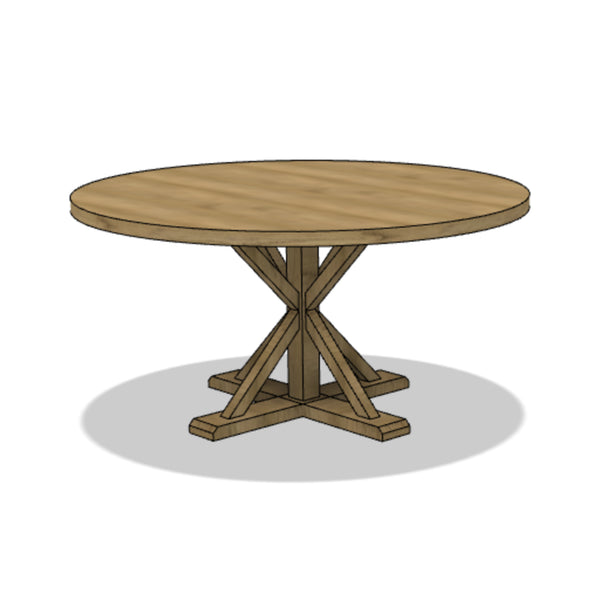 X-Style Farmhouse Dining Table (Round)