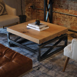 Pin Oak Modern X-Style Coffee Table